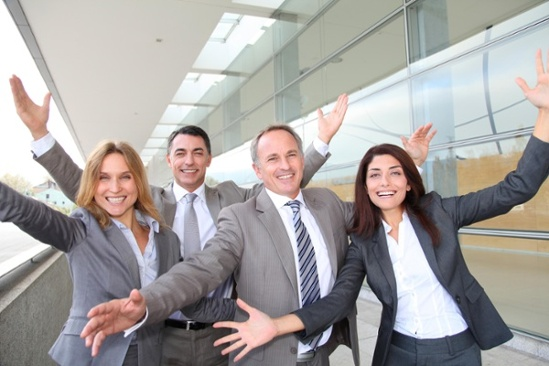 Motivation and Reward - Happy team members